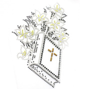 Rhinestone Iron on Transfer Hot Fix Motif Crystal Fashion Design Book 3 Sheets 5.6* 12cm