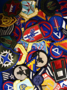 Assorted Lot of 50 US Army & Air Force Military Patches