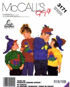 McCall's 3171 Sewing Pattern Childs Top Dinosaur Hats Size 2 - 10