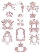 Machine Embroidery Designs Set - Mediaeval Frames - 13 Designs