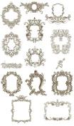 Machine Embroidery Designs Set - Mediaeval Frames 2 - 13 Designs