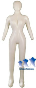 Inflatable Female Mannequin, Full-Size with head & arms Ivory