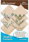 Anita Goodesign Embroidery Machine Designs CD NAPKIN CORNERS
