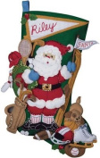 Bucilla Sports Santa Stocking Felt Applique Kit