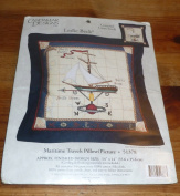 Candemar Designs Counted Cross Stich-Maritime Travels Pillow/Picture