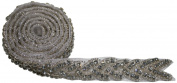 The Buckle Boutique Rhinestone Hand Beaded Braid Trim Embellishments, 1-Yard