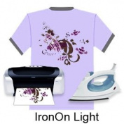 JET-PRO®SS HEAT TRANSFER PAPER 100p 8.5x11 for light fabrics,heat press,iron-on