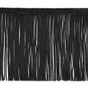 Chainette Fringe 10cm Wide 20 Yards-Black 448585 Expo