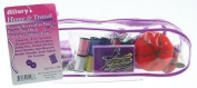 Allary Corporation 1298 Travel Sewing Kit Purple -Clear Case with 20cm Scissors -Pack Of 6
