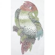 Rhinestone Transfer Hot Fix T-shirt Clothing Crafts Cushion Parrot Design 3 Sheets 6.1* 26cm
