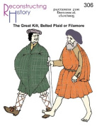Great Kilt, Belted Plaid or Filamore Pattern
