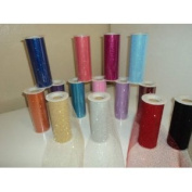 Buy 12 Rolls of 15cm X 30 Ft Glitter Tulle Rolls