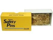 Prym Bulk Safety Pins Gilt Plated Brass 2/0