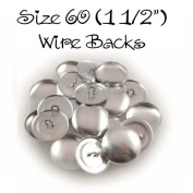 Cover Buttons - 3.8cm (SIZE 60) - WIRE BACKS - QTY 150