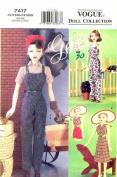 Vogue 7417 Crafts Sewing Pattern Gene Doll Sportswear Clothing
