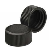 Wheaton 240706-01 Black Polypropylene Solid Top Screw Cap for Glass Diagnostic Bottles, 20-400 Size