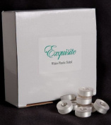 Exquisite White Plastic Embroidery Machine Bobbins - Pack of 144