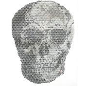 Rhinestone Transfer Hot Fix T-shirt Clothing Crafts Cushion Details Skull Design 3 Sheets 8.2* 28cm