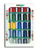 Poly X 40 Embroidery Machine Thread 25 Spool Holiday Colours Set