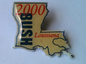 2000 LOUISIANA State GEORGE BUSH Political Pin Back Button