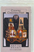 Country Christmas Vest Sewing Pattern & Fabric Kit by Nancy Halvorsen