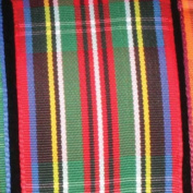Pleasantly Plaid Green and Red Tartan Wired Craft Ribbon 3.8cm x 22 Yards