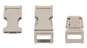 50-Country Brook Design® 1.6cm Metal Contoured Side Release Buckles