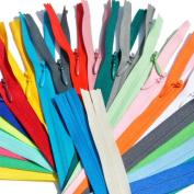 80cm - 180cm Unique YKK Conceal ~ Invisible Zippers ~ Assortment of Colours & Length