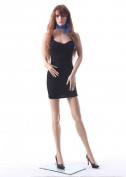 """32""""24""""34"""" Female Durable Unbreakable Plastic Mannequin Head Turns + Free Wig SF12"""