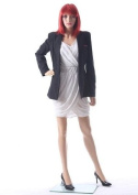 """32""""24""""34"""" Female Durable Unbreakable Plastic Mannequin Head Turns + Free Wig SF15"""