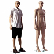 90cm CHEST 80cm WAIST 100cm HIPS 6' TALL MALE MANNEQUIN DURABLE PLASTIC HEAD TURNS (SM2)