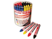 Markal Builders Marker Red/Yellow/Blue/Black Tub 48