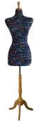 Female Decorative Dress Form Mannequin Print Fabric Modern Natural Colour Base