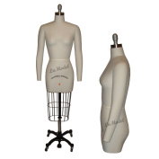 Half Body Female Dress Form Size 4 - Collapsible Shoulders and Two Removable Arms for Fashion Designers & Sewing