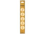 Dill 2 Hole Buttons 1.9cm . Pale Peach 5pc.