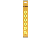 Dill 2 Hole Buttons 1.4cm . Yellow 6pc.