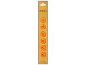 Dill 4 Hole Buttons 1.3cm . Orange 6pc.