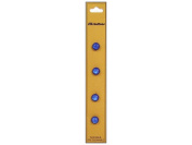 Dill Shank Buttons 0.8cm . Royal Blue 4pc.