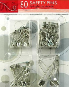 Sewing Essentials, 80 pcs Safety Pins, Sewing Kit