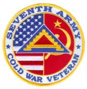 7th Army Cold War Veteran 10cm Patch
