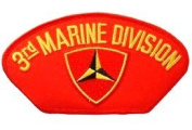 3RD MARINE DIVISION EMBLEM RED PATCH(Can be sewn or ironed on jacket or hat) Patch 7.6cm x 13cm