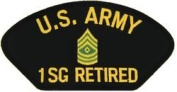 US Army 1st Sergeant (1SG) Retired Patch