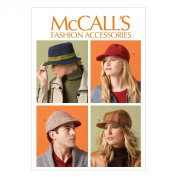 McCall Pattern Company M6851 Misses'/Men's Hats Sewing Template, All Sizes