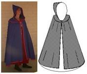 1300 - 1900 Yoked Cloak Pattern