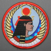 7.6cm Isis Egyptian Goddess Embroidered Cloth Patch, PA6
