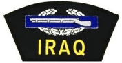 IRAQ COMBAT INFANTRYMAN BADGE BLACK PATCH(Can be sewn or ironed on jacket or hat) Patch 7.6cm x 13cm