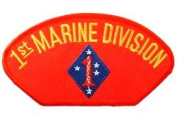 1ST MARINE DIVISION EMBLEM RED PATCH(Can be sewn or ironed on jacket or hat) Patch 7.6cm x 13cm