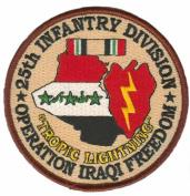 25th Infantry 10cm Operation Iraqi Freedom Patch