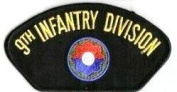 9TH INFANTRY DIVISION BLACK PATCH(Can be sewn or ironed on jacket or hat) Patch 7.6cm x 13cm