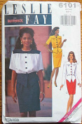Butterick 6101 Sewing Pattern ~ Designer Leslie Fay Misses' Top & Skirt, 2 Piece Dress, Sizes 6-8-10
